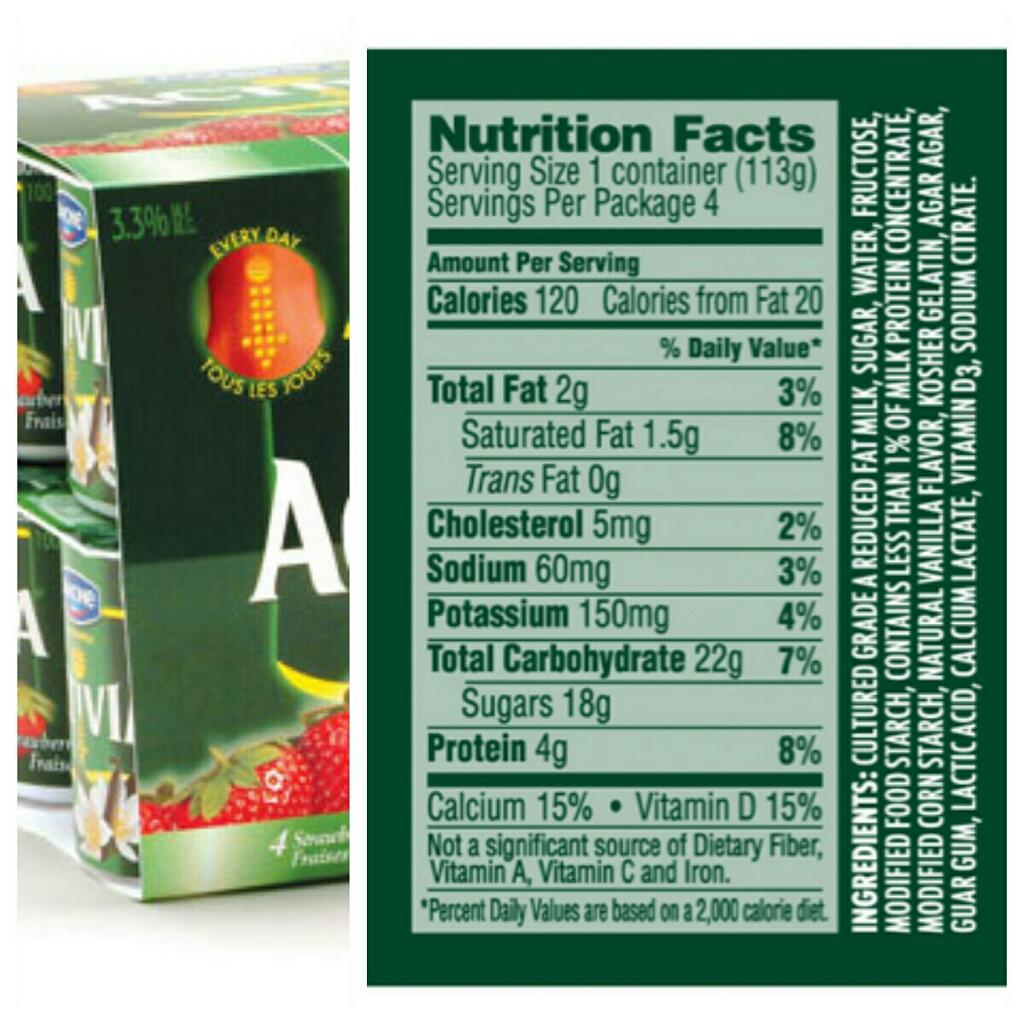 Dannon Activia Blueberry Nutrition Information Activia Yogurt Nutrition Label Blueberry: Don't Be FOOLED!